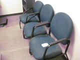 (3) Blue Guest Chairs