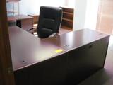 L-Shape Desk, Double Pedestal Desk Location Temple Texas