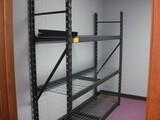 (2) Metal Shelving units Location Temple Texas