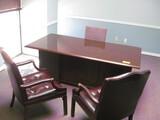 Double Pedestal Desk (2) Book Cases (2) arm Chairs Location Temple Texas