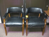(2) Black Guest/Arm Chairs Location Temple Texas