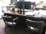 Double Pedestal Desk (2) Task Chairs 2 Guest Chairs Location Temple Texas