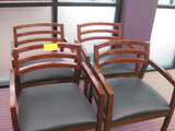 5 Wooden Padded Seat Guest/Arm Chairs