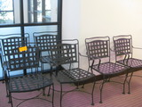 6 Metal Patio Chairs