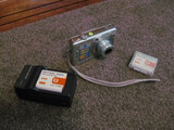 Sony Cyber Shot Digital Camera with Charger and 3 Batteries