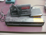 DVD VCR Player and Clock Radio