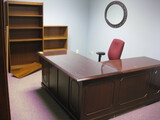 L-Shape Desk Executive Top, (2) Book Cases,  Location Temple Texas Guest Chairs Not Inculded