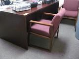 Double Pedestal Desk Chair 2 Guest Chairs Bookcase Location Temple Texas