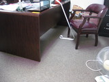 Double Pedestal Desk Task Chair 2 Guest Chairs Sm Bookcase and Credenza Location Temple Texas