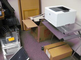 Plastic in and Out Trays Printer Stand and Cork Boards Location Temple Texas