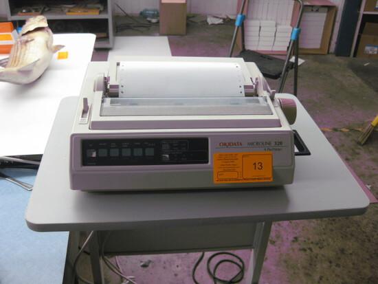 Okidata Microline 320 9 Pin Printer and Stand