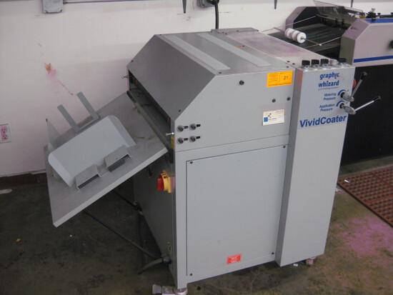 Graphic Wizard Model XDC 530 Micro Vivid Coater SN 2608255