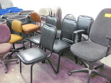 Misc(8)  Folding Chairs (5) Stack Chairs and (4) Task Chairs