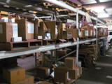 (6) White sections Pallet Shelving
