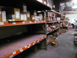 (7) Orange and Green sections Pallet Shelving
