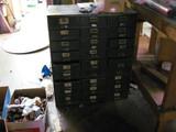 Metal Card File Cabinet