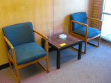2 side chairs and table