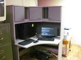 (2) Corner Desks with over hutch
