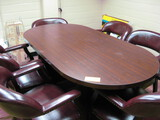 6' Conference Table with (6) Padded Chairs