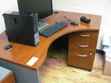 Corner Desk 2 Pedestals and Chair