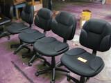 (4) Black Task Chairs