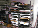 3 Shelving units and Large paper