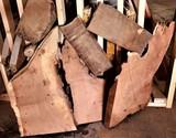 (11) Texas Mesquite Cutoff Chunks Approximately 16 board feet x 2