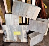 (5)  Sinker Cypress Chunks  Various Sizes x 2-1/2 Thick