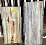 (4) Cottonwood  32 x 16 x 2-1/8,  36 x 14 x 1-1/2,  33 x 14 x 1-3/4,  34 x 15 x 2-1/8