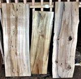 (5) Cottonwood  32 x 15 x 1-1/4,  30 x 17 x 1-1/2,  47 x 15 x 14,  42 x 11 x 1-3/8,  48 x 12 x 1-1/2