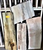 (4) Ocean Salvaged Log Lumber Cottonwood  Various Sizes 15 Board Feet +-