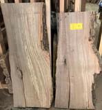 (2)  Cottonwood  40 x 12 x 3-1/2,  37 x 12-18 x 2-1/2