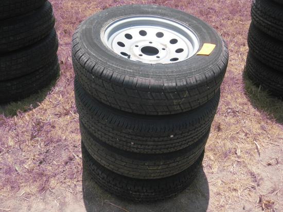 Hi Run ST205/75R15 Take off Wheels and Tires