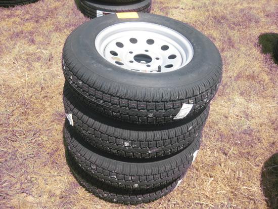 Hi Run LQ229 St205/75D15 New Wheels and Tires LR C