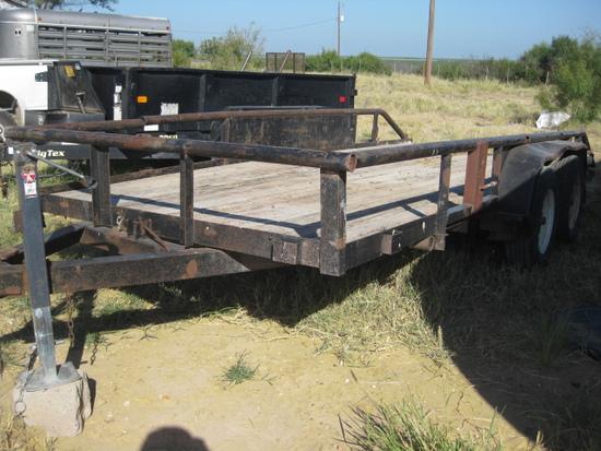16' Tandem Axle Bumper Pull Tilt Trailer