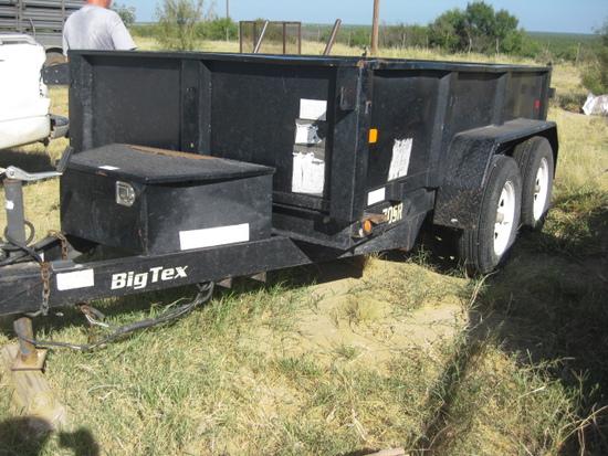 2013 Big Tex 10' Tandem Axle Dump Trailer Model 70SR