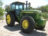 John Deere Model 4555 4wd Cab Farm Tractor