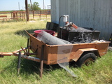 Small Single Axle Trailer with Fuel tank and pump.