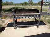 Gas Grill and Small BBQ Pit