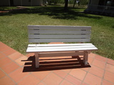2 Park Wooden Folding Benches