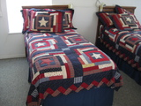 2 Twin Beds and Bedding