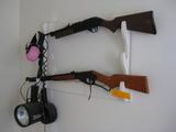 2 BB Guns Spot lights Ball Cabs Wind River 10x40 Binoculars Simmmons 10x50 Biinoculars