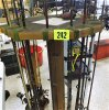 15 Fishing Poles w/Wood stand