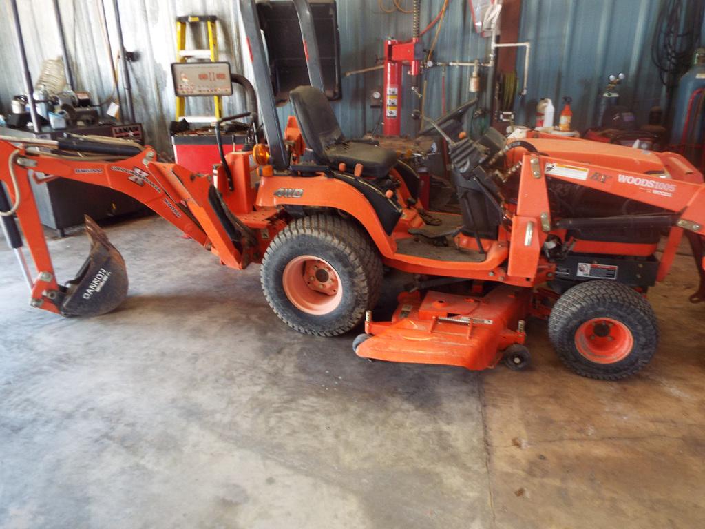 BX 2230D Kubota tractor w/Woods front end loader