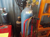 Acetylene torch and cart with extra oxygen bottle