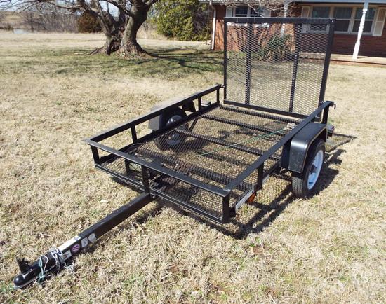 Carry On 4 x 6 trailer, tilt w/ramp