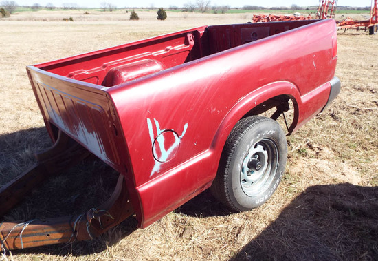 Pick-up bed trailer - Red