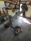"Mayrath 8"" x 11' transport hopper auger w/10 hp. elect. motor"