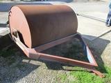 """6' X 54"""" steel heavy duty pull type sod roller, made by former Rex Welding"""