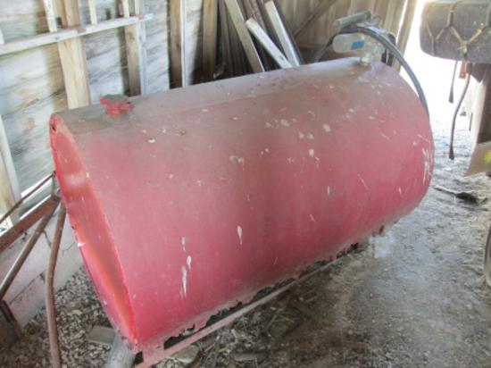 Steel 250 gal. skid fuel tank w/elect. pump